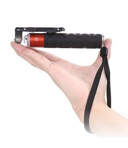 Next Gen Compact Selfie Stick Wired for iPhone and Android