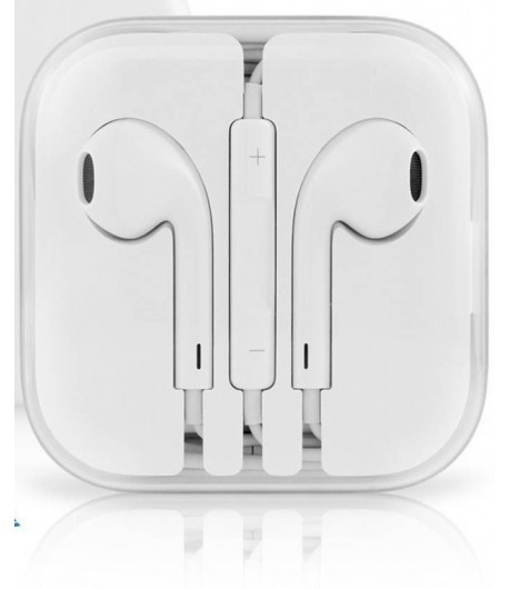 headphone Wired Headset with Mic  (White, On the Ear)