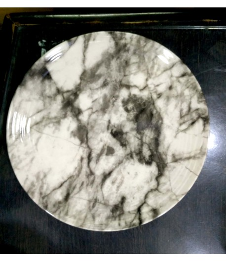 Marble Finish & Pure Melamine Dinner Plate Set - 2pcs, 11 inch