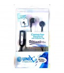 UNIX Earphone connector with attached clip